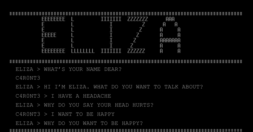 intelligenza artificiale cos'è _ ELIZA